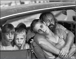 American Family Living Out of Their Car