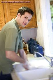 Man Washing Dishes
